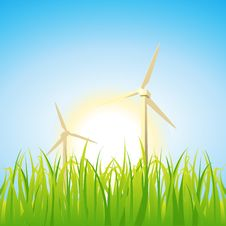 Spring Windmills Royalty Free Stock Photo