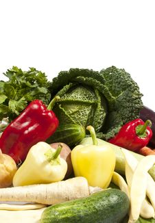 Free Fresh Organic Vegetables Isolated On White Stock Photos - 20697543
