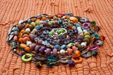Free Varicoloured Beads In A Spiral Royalty Free Stock Photo - 20697695
