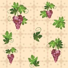 Free Seamless Pattern With Grape - Vector Royalty Free Stock Photos - 20697708