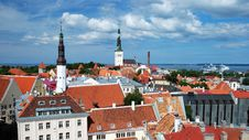Free Panorama Of Old Tallinn Stock Images - 20698124