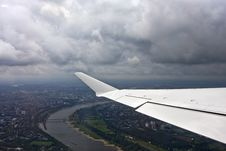 Free Flying Over D�sseldorf Stock Photos - 20698143