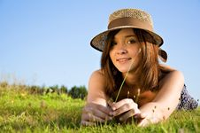 Free Young Nice Attentive Woman Royalty Free Stock Images - 20698189