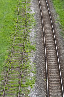 Old And New Railway Tracks Stock Images