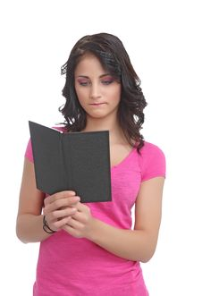 Free Sad Young Teen With A Book Royalty Free Stock Photos - 20698888
