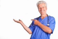 Free Doctor On White Stock Photography - 20698972