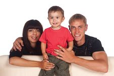Free Cute Family Of A Three Royalty Free Stock Photos - 20699088