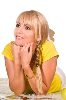 Free Cute Blonde Portrait Royalty Free Stock Image - 20699116