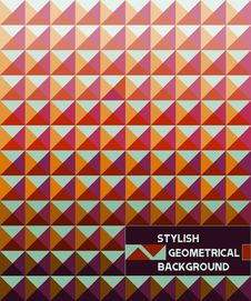 Free Stylish Geometrical Background Royalty Free Stock Images - 20699299