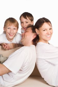 Free Happy Family On A White Stock Photo - 20699410