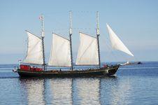 Free Big Sailboat Navigating On The Mediterranean Sea Stock Photo - 20699510