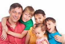 Cute Family Portrait Stock Photo