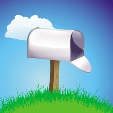 Free Mailbox Open On A Green Hill Stock Photos - 20699883