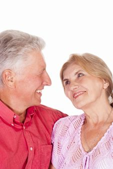 Free Old Couple On White Royalty Free Stock Photography - 20699937