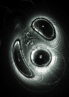 Abstract Circles In Black Royalty Free Stock Photography