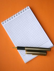 Notebook With A Spiral. Royalty Free Stock Photos