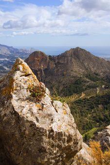 Free Mountain Region Overlooking Mediterranean Stock Photo - 2070410