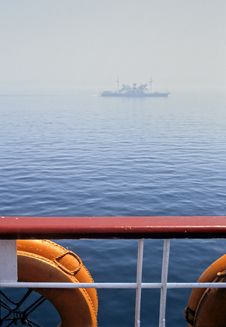 Marmara Lifebuoy Fog Royalty Free Stock Photography