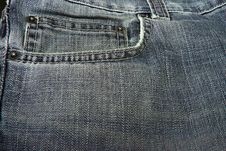 Front Jeans Fabric Royalty Free Stock Image