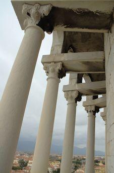 View Onto Pisa Through Pillars Stock Photo