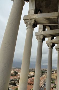 View Onto Pisa Through Pillars Royalty Free Stock Image