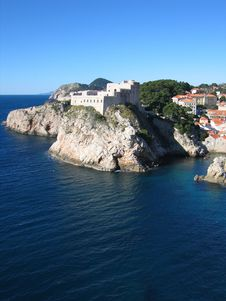 Dubrovnik Fort Stock Photography