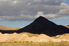 Shot Of A Pyramid Shaped Mountain In Death Valley Stock Images