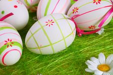 Free Easter Eggs A Background Royalty Free Stock Photos - 2073998