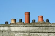 Free Chimney Pots And Air Vents Royalty Free Stock Image - 2074036