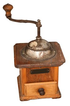 Old Mechanical Coffee Grinder.