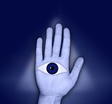Free Eye In Hand Royalty Free Stock Images - 2075149