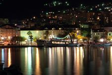 Free Town By The Sea. Night Photo. Royalty Free Stock Image - 2075586