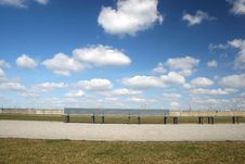 Free Bench And Clouds Stock Photography - 2076362