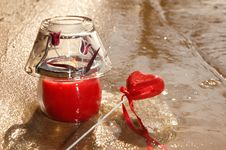 Free Heart And Candle Royalty Free Stock Photo - 2076695