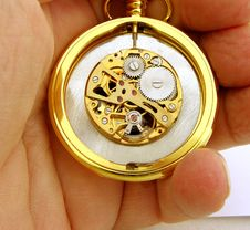Clockwork Pocket Watch Stock Photography