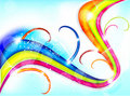 Free Abstract Colorful Wave Background Stock Photo - 20700840