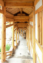Free Chinese Traditional Wooden Corridor Royalty Free Stock Images - 20706059