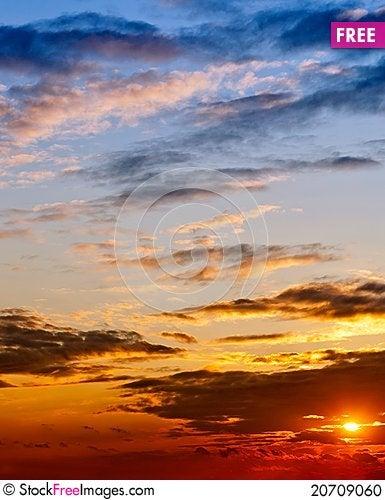 Free Sunset Light Stock Photo - 20709060