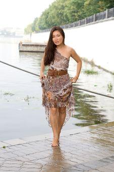 Free Beautiful Girl Walking Near River Royalty Free Stock Photo - 20700125