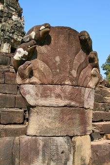 Free Naga Sculpture At Angkor Wat Stock Photo - 20700430