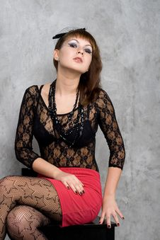 Free Cute Gothic Girl Stock Photography - 20700662