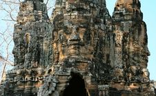 Smiling Faces Of Bayon Royalty Free Stock Photo