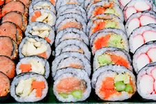 Free Sushi Various Fillings Are Arranged Stock Photo - 20700890