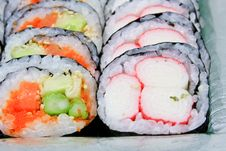 Free Sushi Roll Into A Circle Are Arranged Stock Photo - 20700910