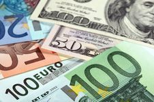 Free Money: Euro And Dollar Banknotes Stock Image - 20701091