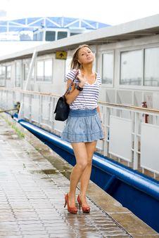 Free Girl Walking On Embankment Stock Photo - 20701250