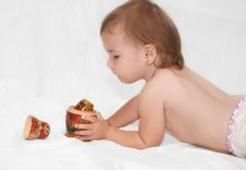 Free The Baby And Toy Stock Photos - 20702553
