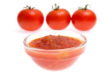 Ketchup And Tomato Royalty Free Stock Photography