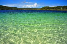 Clear Waters Of Lake McKenzie Stock Image