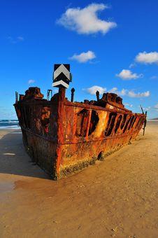 Maheno Shipwreck, Fraser Island Stock Photos
